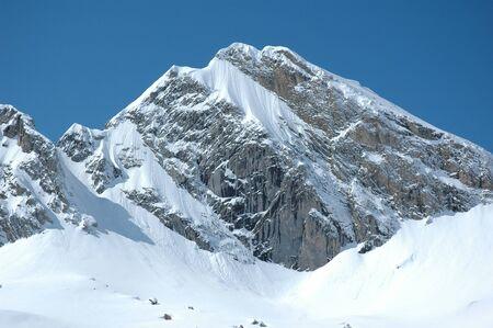 Giant snow-covered Peak Stock Photo