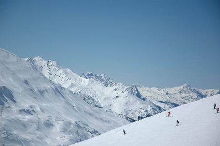 Top-Skigebiet - Arlberg, Österreich-  Standard-Bild - 7155895