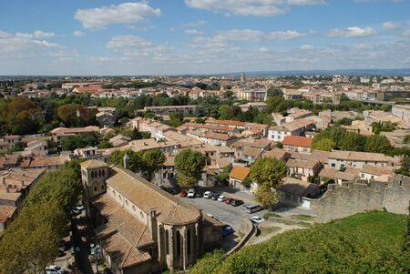 Ausblick Carcassonne Standard-Bild - 8418309