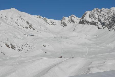 Skifahren in Österreich Standard-Bild - 9143404