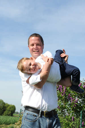 father and son - happy together Stock Photo - 9609171