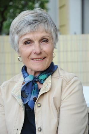 Seniorportrait - 70 year attractive woman Stock Photo