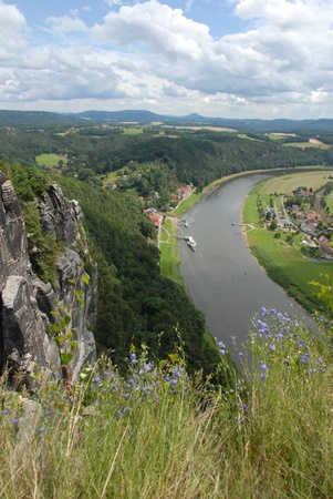 views of the elbe and rathen