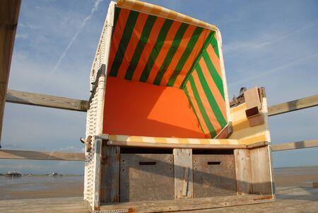 silla playa: techo de mimbre silla de playa