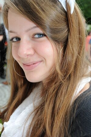 Happy smiling young woman - Portrait -