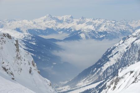 Arlberg Mountains in winter