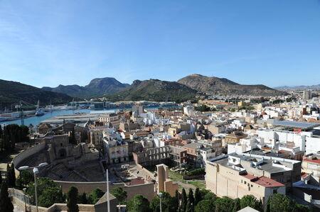 bird 's eye view: Cartagena