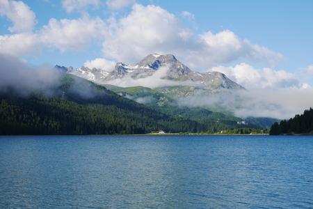 Silvaplana Lake in Switzerland