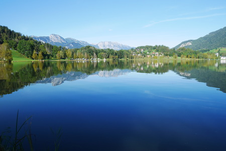 Putterersee, beautiful lake in austria with crystal clear water