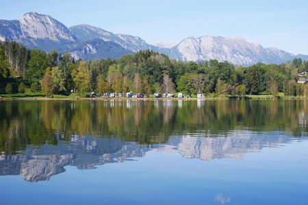 Putterersee, beautiful lake in austria with crystal clear waterr