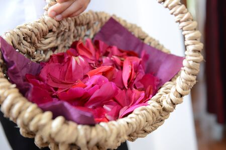 Basket with petals