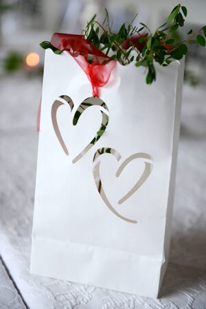 Wedding decoration with hearts