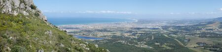 Panoramic view ofer the coastal line in south africa, cape aerea