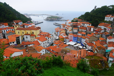 Panoramic view of cudillero