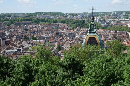 Aerial view of Besancon, france Stock Photo