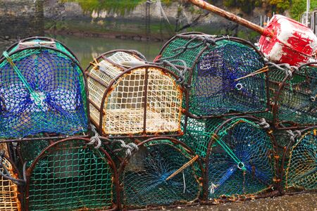 Lobster Baskets Stock Photo