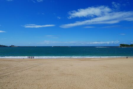Beach at St. Jean de Luz, France Stock Photo