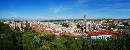 Panoramic view of Burgos in Spain Stock Photo