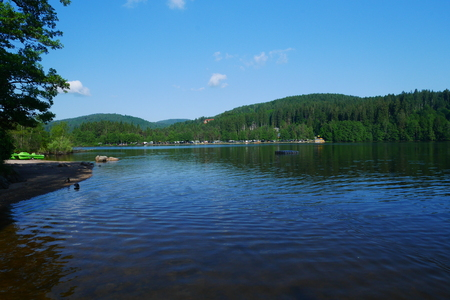 Lake Titisee in the black forest of germany Stock Photo