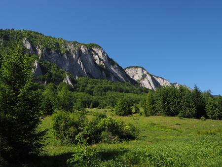 Wonderful landscape of Rasnoavei in Romania
