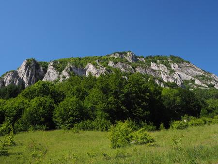 Wonderful landscape of Rasnoavei in Romania Standard-Bild - 124642280
