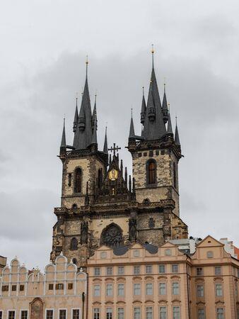 The Church of Mother of God before Tyn , Czech Kostel , gothic church , Old Town of Prague, Czech Republic Stock fotó