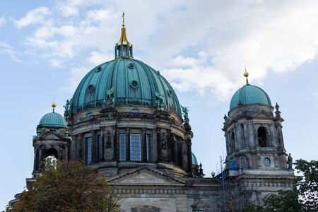 View of the Cathedral from the river Spree, Berliner Dom in Berlin, Germany Reklamní fotografie