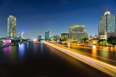 night highway: Bangkok Cityscape, Thailand