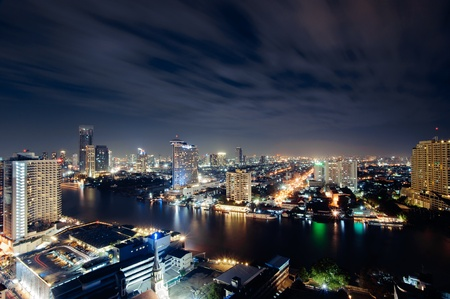 bangkok night cityscape, Thailand photo