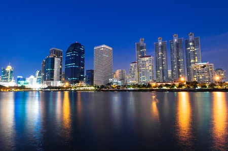 bangkok night cityscape, Thailand photo