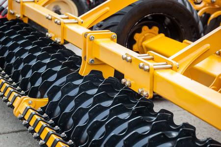 plough land: Colour detail of heavy farming equipment
