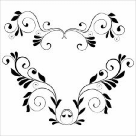 Illustration vector graphic of floral ornament. perfect for frame or border Vettoriali