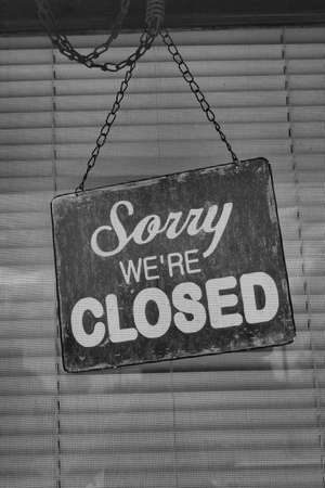 Vintage Closed sign photo