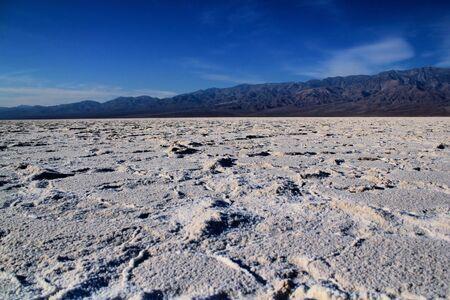 Salt flats in Death Valley National Park