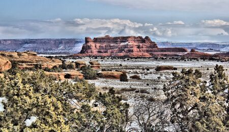 canyonlands: Canyonlands in the winter Stock Photo