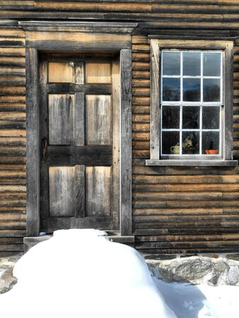 Old doorway and window of the Hartwell Tavern