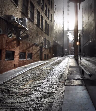 Alleyway in the city of Boston, MA Stock Photo