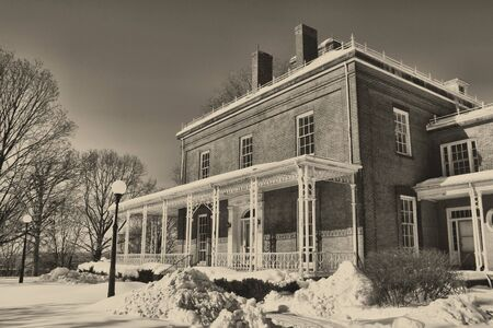 armory: Old home at the Springfield Armory Historical Site
