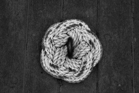 Rope knot on a tall ship