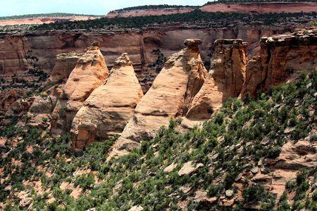 rock formations: Bottle rock formations in Colorado