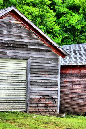Shed and wheel