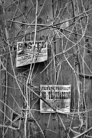 Do not trespass  sign in black and white