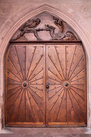 doorway: Beautiful wooden doorway