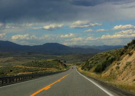 roadway: Roadway heading through hills