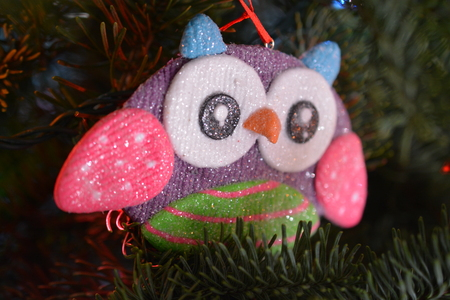 whimsy: Owl Ornament Stock Photo