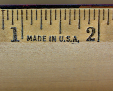 made: Ruler made in USA Stock Photo