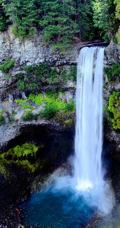 oregon cascades: Waterfall into blue pool
