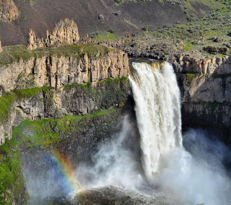 palouse: Palouse Falls with a rainbow
