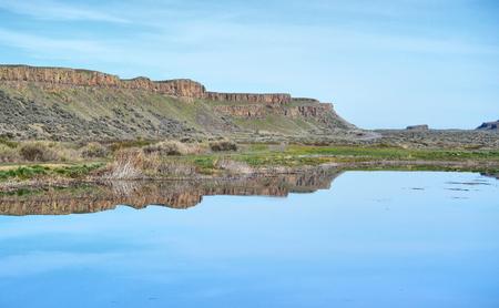 basalt: Reflection of Basalt rock formation