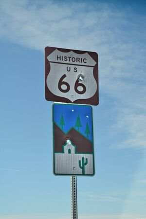 Route 66 and scenic byway sign
